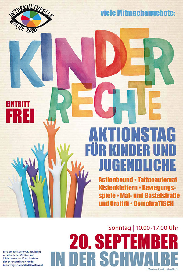 Aktionstag Kinder haben Rechte am 20. September in Greifswald